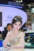 Bangkok, Thailand - April 4, 2015: Hyundai booth presenter demon — Stock Photo