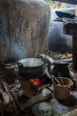 Kök på landsbygden Thailand — Stockfoto