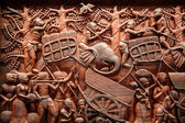 Wood carving art — Stock Photo