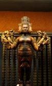 Arte de escultura em madeira do Camboja — Fotografia Stock