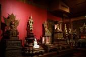 Boeddha gesneden hout — Stockfoto