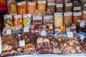 BANGKOK, THAILAND - May 31: Dried seafood packaged in bags for s — Stock Photo