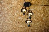 Recessed ceiling lights in room — Stock Photo