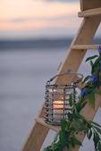 Lantern on the stairs — Foto de Stock