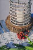 Cloudberries on the table — Stock Photo