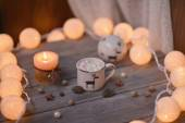 Candle and garland — Foto de Stock