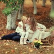 Picnic in the autumn forest — Stock Photo #63418105
