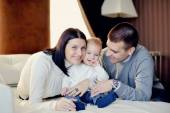Family with young son — Stock Photo