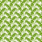 Vector tropical seamless nature pattern — Stock Vector