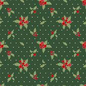 Christmas berries background — Stock Vector
