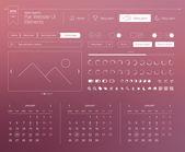 Flat website UI elements — Stock Vector
