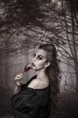 Portrait of a vampire. Halloween theme — Foto de Stock