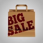 Big sale paper bag — Stock Vector
