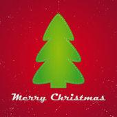 Cloth christmas tree — Stock Vector