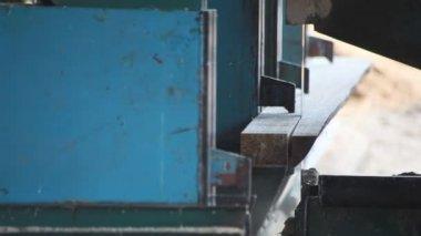 Bandsaw Sawmill — Stock Video