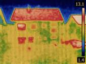 House Thermal Image — Stock Photo