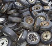 Old Tyres Background — Stock Photo