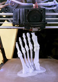 Foot Bones Printing — Stock Photo