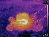 Lawnmower Failure Thermogram — Stock Photo