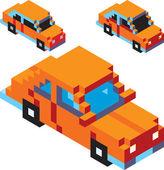 Пиксельный автомобиль — Cтоковый вектор