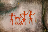 Model of Famous prehistoric rock paintings — Stock Photo