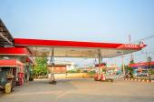 Sukhothai,THAILAND - March 30: Caltex Oil station on March 30,2013 in Sukhothai province, Thailand. Ready to service 24 hour. — Stock Photo