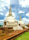 Old pagoda on blue sky background — Stock Photo