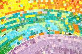 Colorful of ceramic mosaic background — Stock Photo