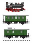 Vintage train — Stock Vector