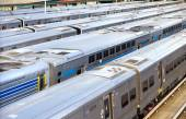NYC Trains in Hudson Yards — Stock Photo