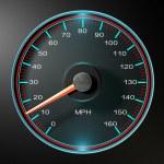 Speedometer MPH Slow — Stock Photo #53599897