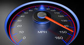 Speedometer MPH Fast — Stock Photo