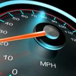 Speedometer MPH Slow — Stock Photo #53600121