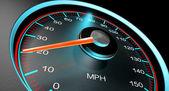 Speedometer MPH Slow — Stock Photo