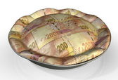 Money Pie South African Rand — Stock Photo