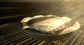 British Pound Money Pie Baking In The Oven — Stock Photo