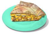 Slice Of Rand Money Pie — Stock Photo