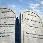 Ten Commandments Standing In The Desert — Stock Photo #58000881
