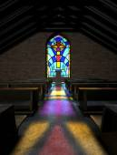 Stained Glass Window Church — Stock Photo