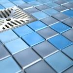 Shower Floor Drain And Mosaics — Stock Photo #58961327