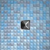 Shower Floor Drain And Mosaics — Stock Photo