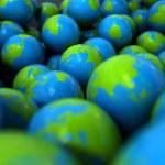 Gum Ball Earth Globes — Stock Photo #59871659