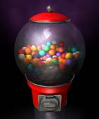 Gumball Dispensing Machine Dark — Stockfoto