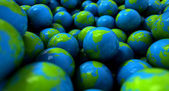 Gum Ball Earth Globes — Stock Photo