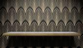 Empty Art Deco Shelf On Wall — Stock Photo