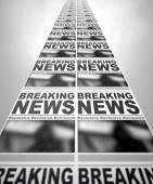 Newspaper Press Run — Stock Photo