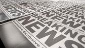 Newspaper Press Run End — Stock Photo