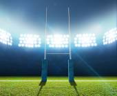 Rugby Stadium And Posts — Stock Photo
