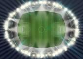 Stadion Fußballabend — Stockfoto