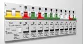 Electrical Circuit Breaker Panel — ストック写真